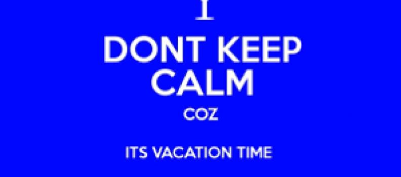 Vakantietijd, rustige tijd…?